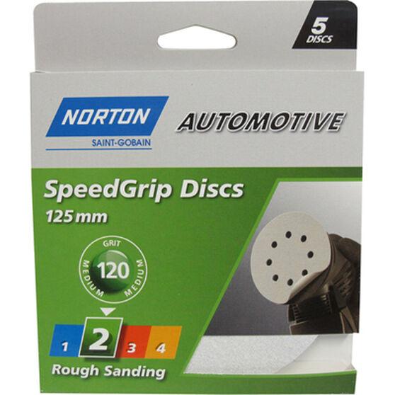 Norton Speed Grip Disc 120 Grit 125mm 5 Pack, , scaau_hi-res