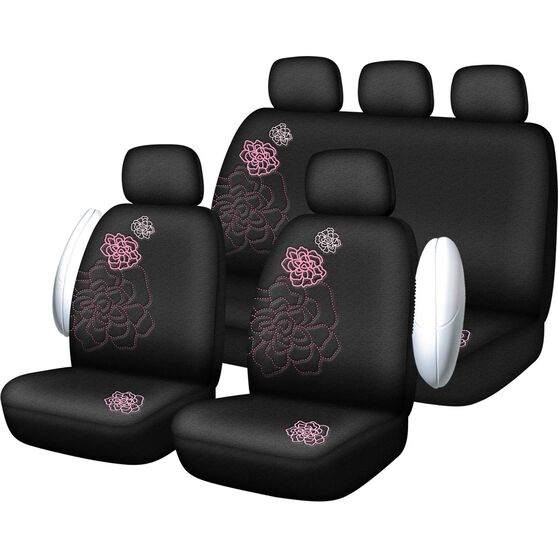 SCA Rose Seat Cover Pack - Pink, Adjustable Headrests, Size 30 and 06H, Airbag Compatible, , scaau_hi-res