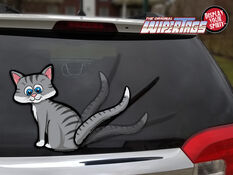 WiperTag Rear Window Blade Cover - Grey Cat, , scaau_hi-res