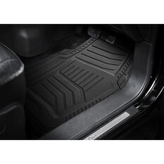 Armor All Car Floor Mats - Natural Rubber, Black, Set of 4, , scaau_hi-res