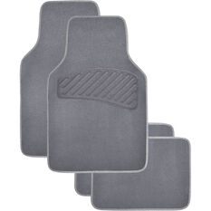 SCA Luxury Carpet Floor Mats - Carpet, Charcoal, Set of 4, , scaau_hi-res