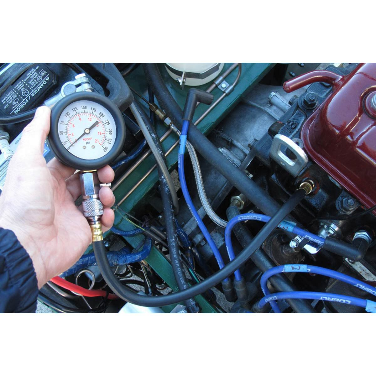 Professional Motor Auto Petrol Gas Engine Cylinder Compression Tester Gauge Kit
