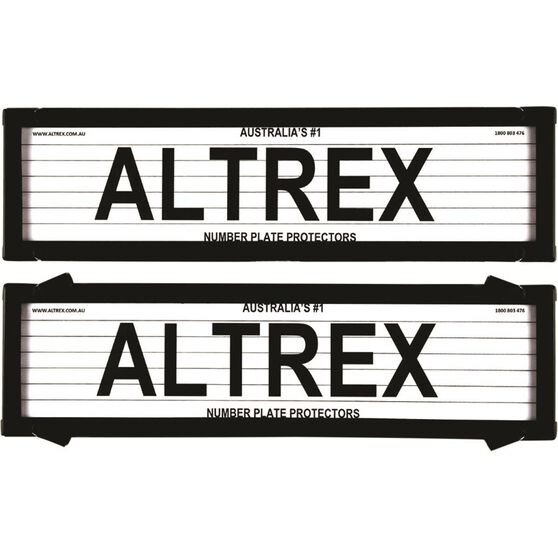 Altrex Number Plate Protector - 6 Figure Slimline With Lines 6VSL, , scaau_hi-res