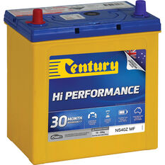 Century Hi Performance Car Battery NS40Z MF, , scaau_hi-res