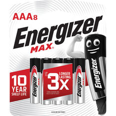 Energizer Max AAA Battery - 8 Pack, , scaau_hi-res