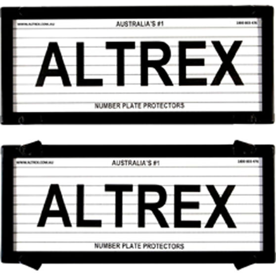Altrex Number Plate Protector - 5 Figure, With Lines, 5 Litre, , scaau_hi-res