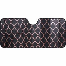 Front Accrodion Sunshade - Rose Gold & Black, , scaau_hi-res