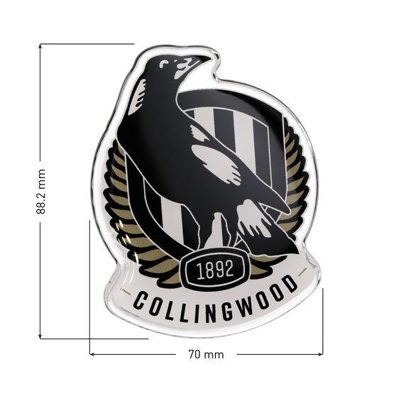 Collingwood AFL Supporter Logo - Lensed Chrome Finish, , scaau_hi-res