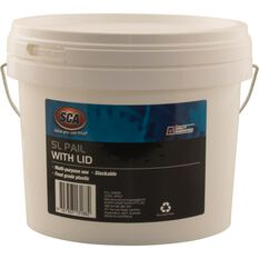 White Pail Bucket With Lid - 5L, , scaau_hi-res