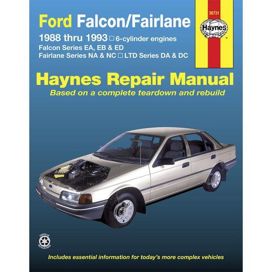 Haynes Car Manual For Ford Falcon / Fairlane 1988-1993 - 36731, , scaau_hi-res