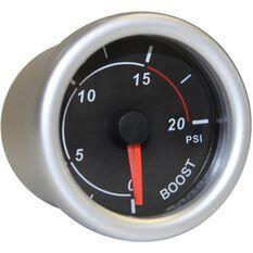Autoline Diesel Boost Gauge - Black, 52mm, , scaau_hi-res
