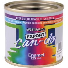 Can Do Paint - Enamel, Gloss Black, 125mL, , scaau_hi-res