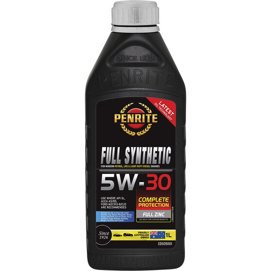 Penrite Full Synthetic Engine Oil -  5W-30 1 Litre, , scaau_hi-res