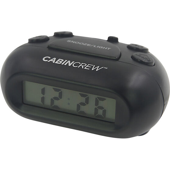 Cabin Crew Digital Alarm Clock - Black, , scaau_hi-res