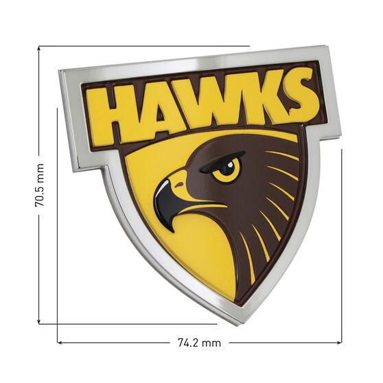 Hawthorn AFL Supporter Logo - 3D Chrome Finish, , scaau_hi-res
