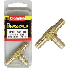 Champion T Pieces - 5 / 16inch, Brass, , scaau_hi-res