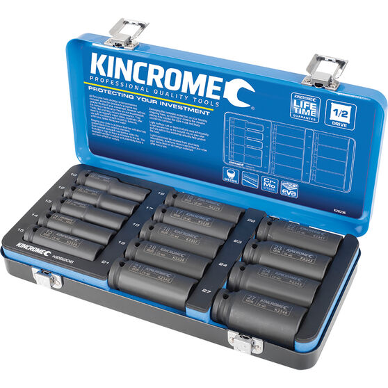 "Kincrome Impact Deep Socket Set Metric 1/2"" Drive 14 Piece, , scaau_hi-res"