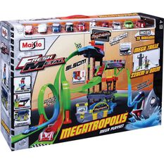 Megatropolis Play Set With 20 Vehicles, , scaau_hi-res