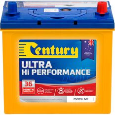 Century Ultra Hi Performance Car Battery 75D23L MF, , scaau_hi-res
