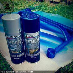 Dupli-Color Metalcast Aerosol Paint Enamel Blue Anodised 311g, , scaau_hi-res