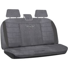 Suede Velour Seat Covers - Grey, Adjustable Headrests, Size 06H, Rear Seat, , scaau_hi-res
