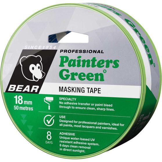 Norton Painters Masking Tape - Green, 18mm x 50m, , scaau_hi-res