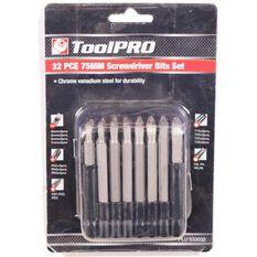 ToolPRO Driver Bit Set 75mm 32 Piece, , scaau_hi-res