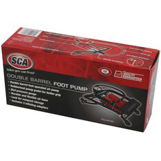 SCA Foot Pump, Double Barrel, With Gauge, , scaau_hi-res