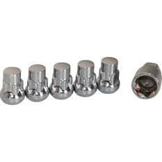 Wheel Nuts, Tapered Lock, Chrome - 1/2, , scaau_hi-res
