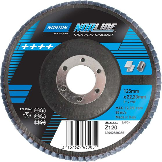 Norton Flap Disc 120 Grit 125mm, , scaau_hi-res