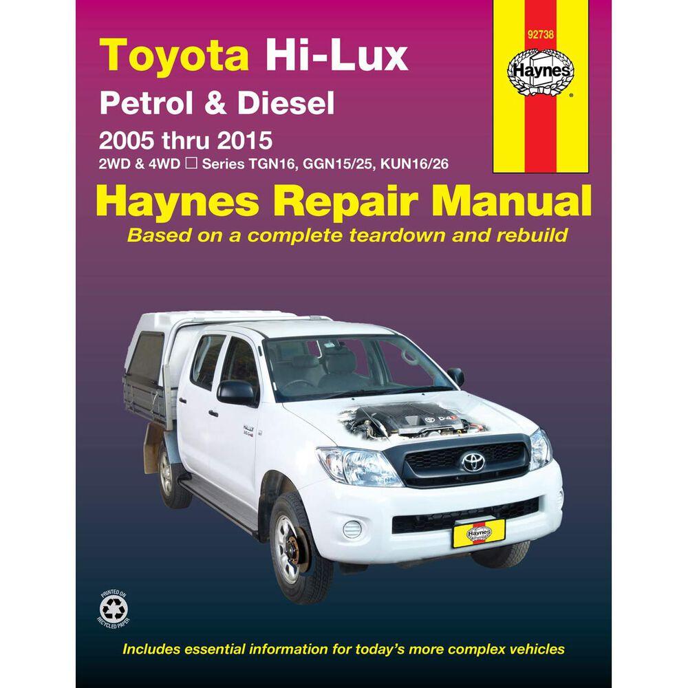 Haynes Car Manual For Toyota Hilux 2005-2015