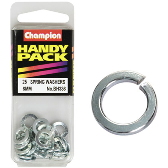 Champion Spring Washers - 6mm, BH336, Handy Pack, , scaau_hi-res