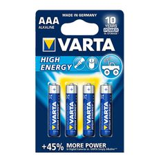 Varta High Energy Battery - AAA, 4 Pack, , scaau_hi-res