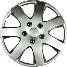 Best Buy Wheel Covers - Compass, 15 inch, Silver, 4 Piece, , scaau_hi-res