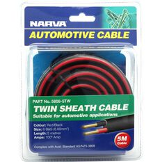 Narva Automotive Cable Twin Core 100 AMP 5m Length, , scaau_hi-res