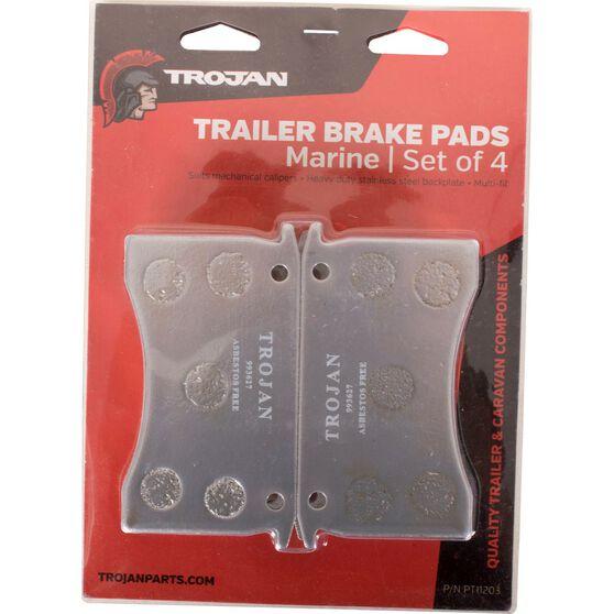 Trojan Marine Trailer Brake Pads, , scaau_hi-res