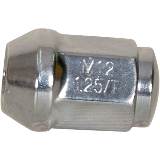 Calibre Wheel Nuts, Tapered, Chrome - SN12125, 12mm x 1.25mm, , scaau_hi-res