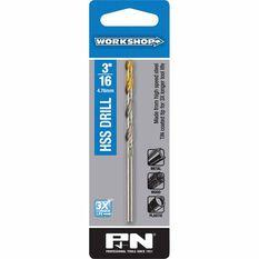 PandN Workshop Drill Bit HSS - Tin Tipped, 3 / 16 inch, , scaau_hi-res