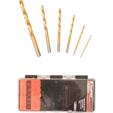 ToolPRO Tin Coated Drill Bit Set 6 Piece, , scaau_hi-res