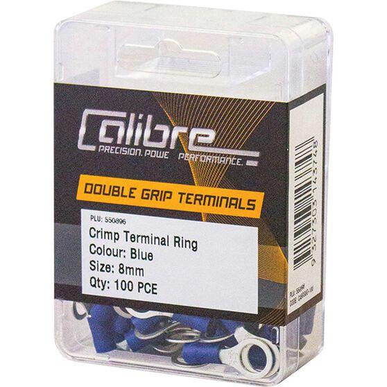 Crimp Terminal Ring Blue 8mm 100Pk, , scaau_hi-res