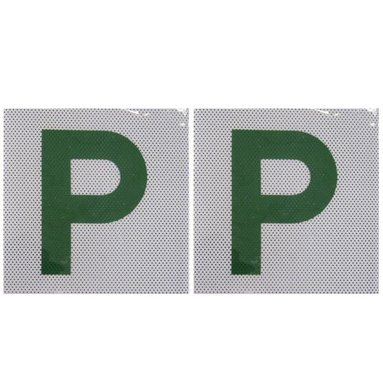 SCA P Plate - Clear Vision, Green, QLD/TAS, 2 Pack, , scaau_hi-res
