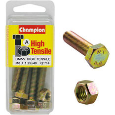 Champion High Tensile Bolts and Nuts - M8 X 40, , scaau_hi-res