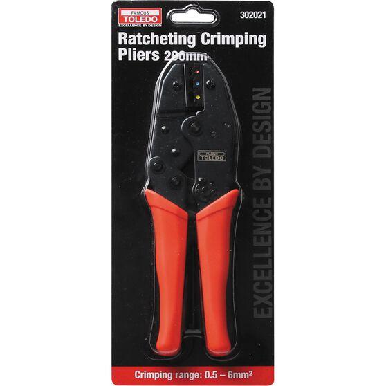 Toledo Ratchet Crimping Pliers - 220mm, , scaau_hi-res
