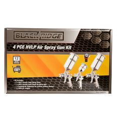 Blackridge Air Spray Gun Kit HVLP 4 Piece, , scaau_hi-res