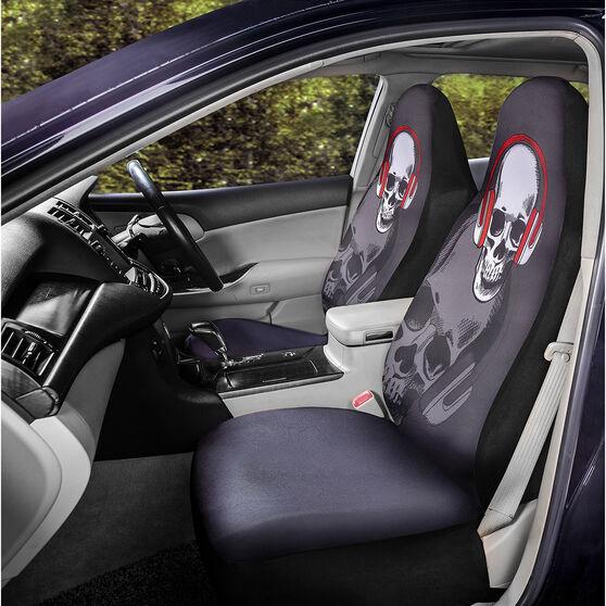 SCA Fashion Seat Cover - Skull, 60SAB, , scaau_hi-res
