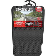 Precision Fit Custom Rubber Floor Mats - Suits Holden Colorado RG Dual Cab 2014+, Black, Set of 3, , scaau_hi-res