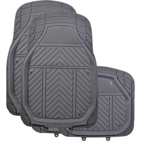 Ridge Ryder Deep Dish Combo Mats - Removable Carpet, Charcoal, Set of 4, , scaau_hi-res