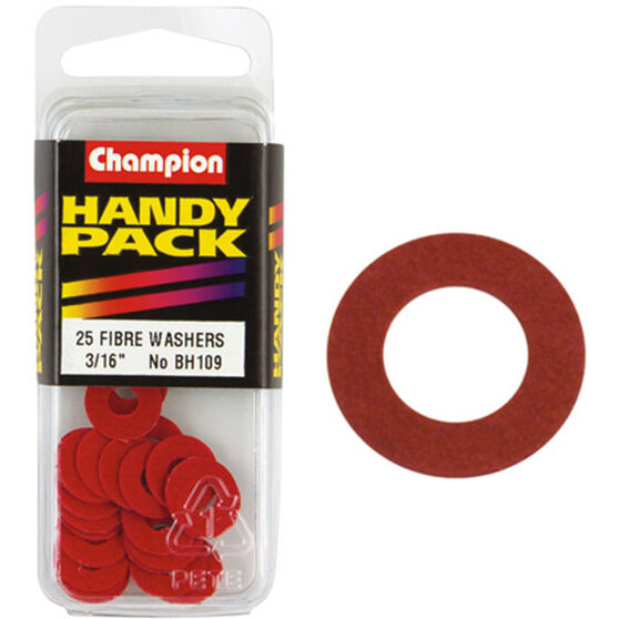 Champion Fibre Washers - 3 / 16inch X 1 / 2inch, BH109, Handy Pack, , scaau_hi-res