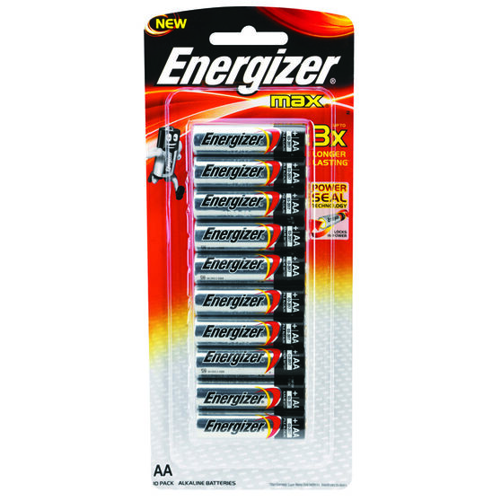Energizer Max AA Batteries - 10 Pack, , scaau_hi-res