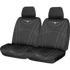 R.M. Williams Canvas Seat Cover - Black Adjustable Headrests Size 30, , scaau_hi-res